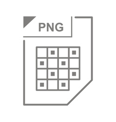 Png file icon cartoon style vector