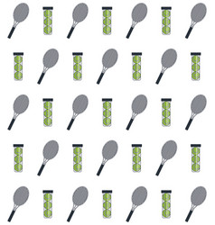 Racket and balls of tennis sport design vector