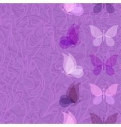 Seamless pattern transparent butterflies vector image vector image