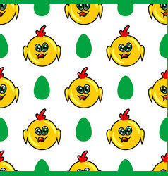 seamless pattern with chicken vector image vector image
