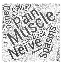 Spasms and Back Pain Word Cloud Concept vector image vector image