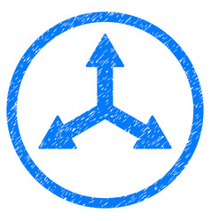Triple arrows rounded grainy icon vector