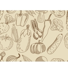 Vegetable seamless for adults vector image