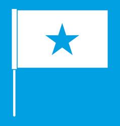 Vietnam flag icon white vector