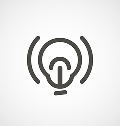 web icon of modern lineart lightbulb Digital vector image vector image