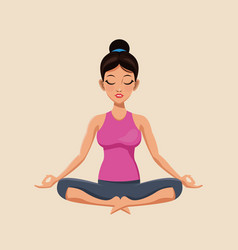 Woman make yoga exercise image vector