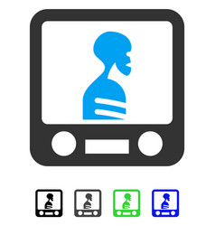 Xray screening flat icon vector