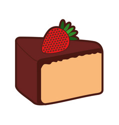 yummy sweet cake slide piece vector image