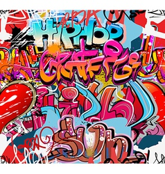 Graffiti wall urban background seamless vector image