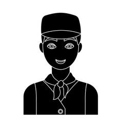 belgian guy in a cap and waistcoatthe dark vector image