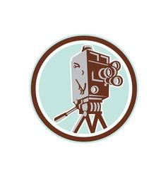 Vintage Movie Film Camera Retro vector image