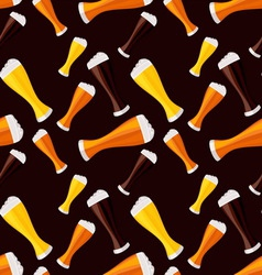 Light dark and red beers seamless pattern vector