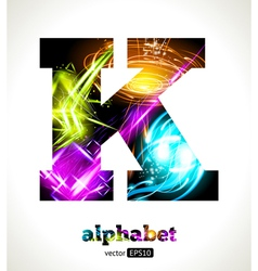 Design abstract letter k vector