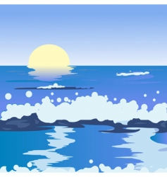 ocean landscape vector image