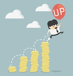 Businessman up vector