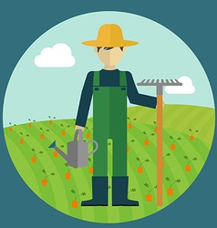 Farmer design vector