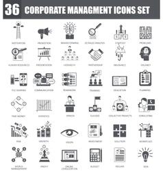 Finance black icons set Dark grey symbols vector image