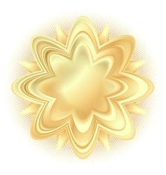 Abstract golden flower vector
