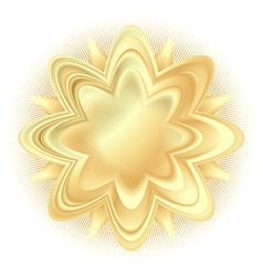 abstract golden flower vector image vector image