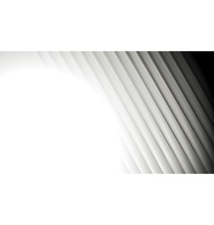 Abstract smooth grey striped background vector