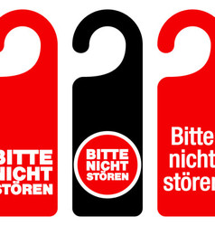 Bitte nicht storen do not disturb signs vector
