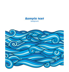 Blue waves pattern card background vector
