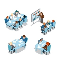 Business negotiations and brainstorming analysis vector