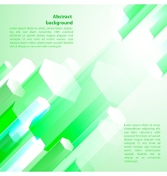 Cristal green ice background vector image vector image