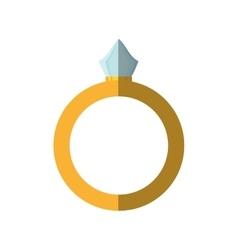 Diamond ring isolated icon vector