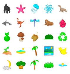 Diversity icons set cartoon style vector