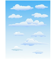 four cute clouds vector image vector image