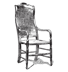 General lees chair vintage vector