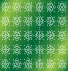 Green Floral Luxury Ornamental Pattern Background vector image vector image