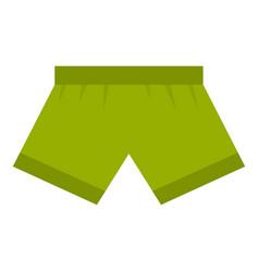 Green man boxer briefs icon isolated vector