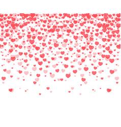 hearts confetti background vector image vector image