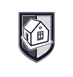 Home insurance conceptual icon protection shield vector