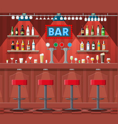 Interior of pub cafe or bar vector