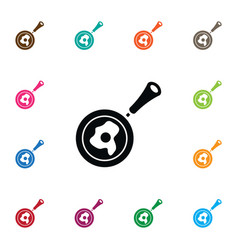 Isolated omelet icon non-stick element can vector