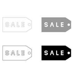 Label sale the black and grey color set icon vector