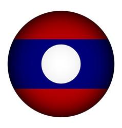 Laos flag button vector image