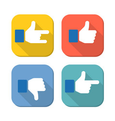 like and unlike button for web design vector image