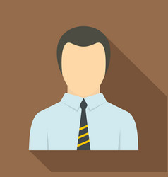 Man in business suit as user icon flat style vector
