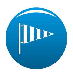 meteorology windsock icon blue vector image