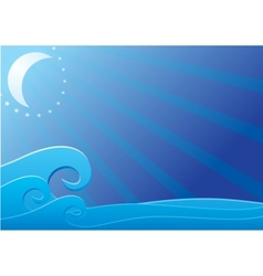 Moon light over sea vector