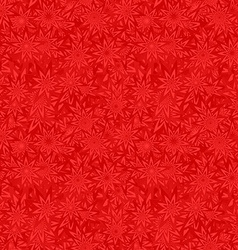 Red seamless floral pattern background vector