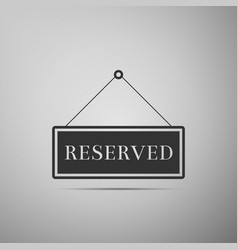 reserved sign icon isolated vector image vector image