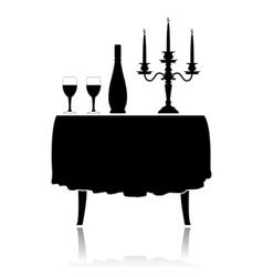 romantic restaurant vector image