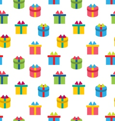 Seamless Texture of Colorful Present Boxes vector image vector image