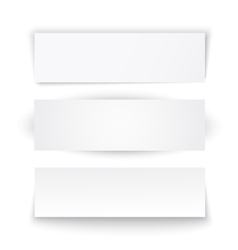 Set of three paper banners vector image