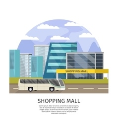 Shopping mall orthogonal design vector